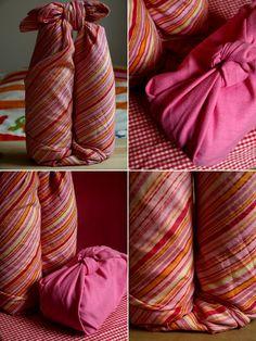 Furoshiki magie giapponesi con un foulard