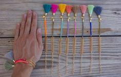 OOAK beautiful fishbone chain bracelet in pastel colors by BonkIbiza on Etsy https://www.etsy.com/listing/190589667/ooak-beautiful-fishbone-chain-bracelet