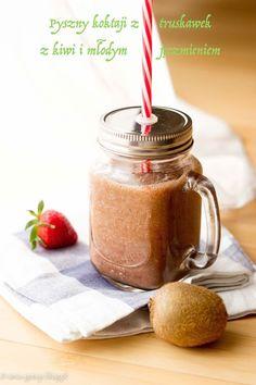 Smoothie: detox truskawka, kiwi i młody jęczmień | ANIA-GOTUJE