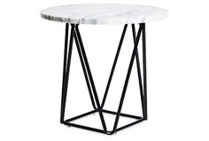 Ginny Marble Accent Table, Black on OneKingsLane.com; $179.00