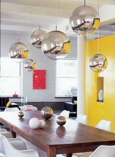 Home I Interior I Furniture I Kitchen I Eating Mirror Ball Lighting by Tom Dixon