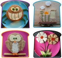 Funky Lunch; los sándwiches más divertidos y originales para hacer en casa. - Cocinar con niños - Recetas - Charhadas.com