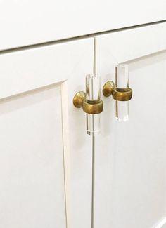 Acrylic Chest Drawer Door Pull Handles /& Knob Wardrobe Pull Rose Gold 80mm