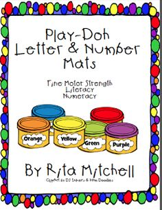 "FREE LANGUAGE ARTS LESSON - ""Letters & Numbers Play-Doh Cards"" - Go to The Best of Teacher Entrepreneurs for this and hundreds of free lessons.  PreKindergarten - Kindergarten   #FreeLesson   #LanguageArts   http://www.thebestofteacherentrepreneurs.net/2013/06/free-language-arts-lesson-letters.html"