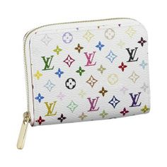 MONOGRAM MULTICOLORE ZIPPY COIN PURSE M93739  - Monogram Multicolore canvas, grained leather lining, golden brass pieces  - Zipper closure  - Two gusseted compartments