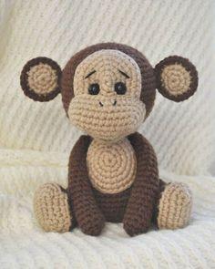 Patrón de amigurumi de mono travieso gratis