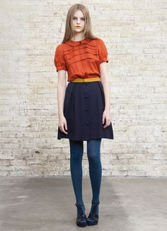 Combine it with orange and/or yellow and even I might like blue.  Oh dear. I kind of need this outfit.  #Sessùn