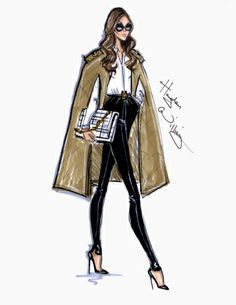 Style On The Go: Victoria Beckham by Hayden Williams. williams on the go beckham style illustration sketch art spice Illustration Mode, Fashion Illustration Sketches, Fashion Sketches, Drawing Fashion, New Fashion, Trendy Fashion, Fashion Show, Fashion Tips, Fashion Design