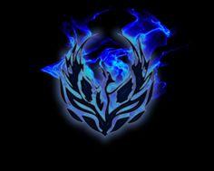 Fiery Blue Phoenix HD Desktop Wallpaper