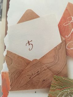 Marble envelope