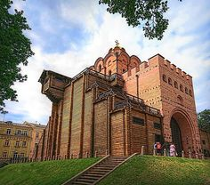 Golden Gate, Kiev, Ukraine |  Built in the 11th century, the Golden Gate, was a fortress built by Prince Yaroslav the Wise. At the top of the church building was a golden dome, which probably gave the name of the construction. Golden Gate served as the main entrance to the old part of Kiev, where the residence of the princes. Now this building is a museum. Found on fineartamerica.com.