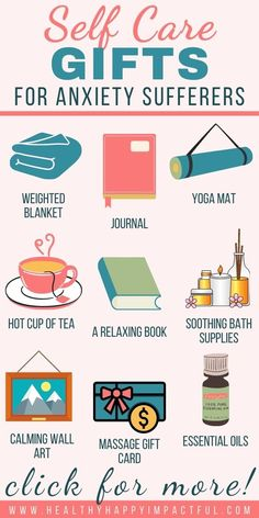 The 30 best self care items and gifts for people with anxiety. Know someone that needs to calm down and wind down easier? Gift any of these 30 thoughtful gifts! Also great ideas for little ones! #anxietyinkids #stressreliefgifts