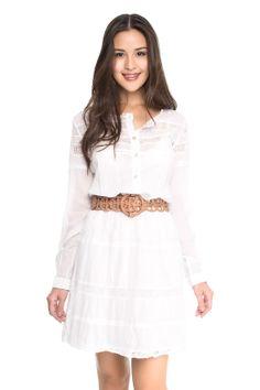vestido mix entremeios - Vestidos   Dress to