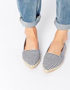 Image 1 - Park Lane - Espadrilles pointues à rayures Pointu, Chaussures  Femme, Soldes 78535181da94