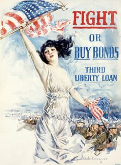 WWI Fight Or Buy Liberty Bonds Fine Art Print