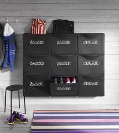 9 Tidy and Stylish Storage Hacks Using IKEA Shoe Cabinets: Customizable Ikea Shoe Cabinet, Ikea Storage Cabinets, Hallway Storage, Locker Storage, Shoe Cabinets, Cabinet Storage, Ikea Hallway, Mail Storage, Door Storage