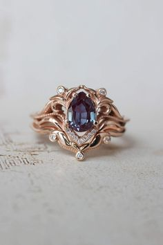 Diamond Wedding Bands, Diamond Rings, Diamond Jewelry, Silver Rings, Alexandrite Engagement Ring, Diamond Engagement Rings, Alexandrite Ring, Engagement Wedding Ring Sets, Bridal Rings
