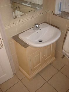 Build Around Pedestal Sink In Hall Bath