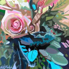 Painting by Kate Mullin Williford. Flower painting. Graphis
