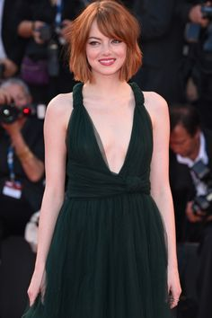 Emma Stone In Valentino Couture At The Birdman Premiere At Venice Film Festival 2014