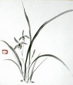 Японская живопись тушью - Суйбокуга или суми-э