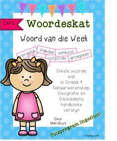 Afrikaans Woordeskat Graad 3 Afrikaans GRATIS!