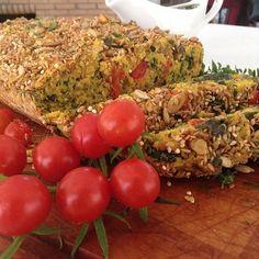 pão com vegetais