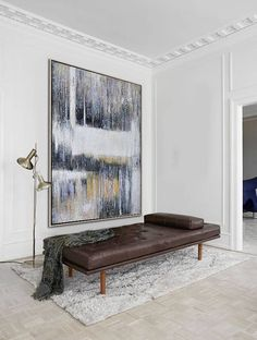 Large abstract painting on canvas vertical contemporary art