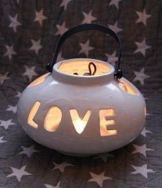 Lampion ceramiczny Home / Love
