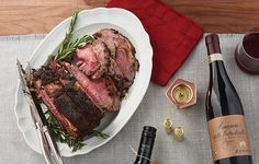 Prime Rib with Mustard and Rosemary Crust Pints, Prime Rib, Bugatti, Beef Recipes, Mustard, Steak, Dinner Recipes, Food And Drink, Holidays
