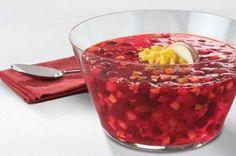 Festive Jello-O Cranberry-Pineapple Salad