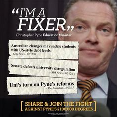 ".@cpyne's 3rd submission of his uni ""reforms"" LESS CREDIBLE THAN his DEFENCE this week of the LOMBORG Centre! #auspol"
