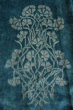 Mariano Fortuny stencilled velvet  , early 20th century