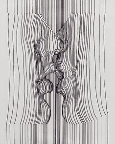 Line Art Photography Drawings New Ideas 3d Drawings, Illusion Drawings, Pen Art, Art Plastique, Art World, Doodle Art, Art Sketches, Creative Sketches, Art Inspo