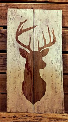Barnwood Sign - Deer Silhouette Deer Silhouette Barnwood Sign Always wanted to discover how to knit, but unclear where do you start? This specific Utter. Barn Wood Crafts, Barn Wood Projects, Diy Projects, Hirsch Silhouette, Deer Silhouette, Barn Wood Signs, Wooden Signs, Deer Decor, Wall Decor