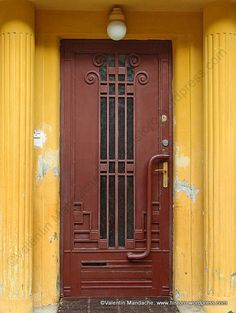 Art Deco style doorway, embellishing an early 1930s house in the Cotroceni area of Bucharest