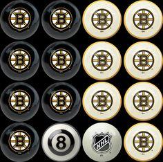 Boston Bruins Home vs Away Billiard Balls