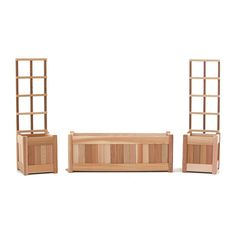 Shop All Things Cedar x Unfinished Cedar Planter with Trellis Planter at Lowes.com $225