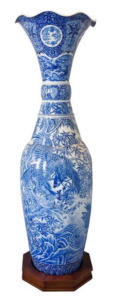 Dai nippon Hichozan Iwahisa Sei, Japan (n. Large Floor Vase, Asian Art, Japanese Art, Metal Working, Period, Contemporary Art, Porcelain, Ceramics, Decoration