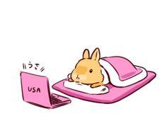 Rabbit Drawing, Rabbit Art, Funny Bunnies, Cute Bunny, Anime Animals, Cute Animals, Animal Drawings, Cute Drawings, O Cowboy