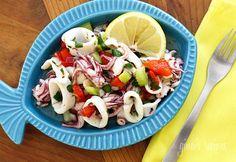Chilled Calamari Salad with Lemon and Parsley | Skinnytaste