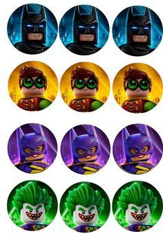 free lego batman cupcake toppers