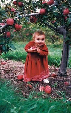 Apple Gatherer so cute, wonderful photography. Little People, Little Ones, Little Girls, Precious Children, Beautiful Children, Cute Kids, Cute Babies, We Are The World, Baby Kind