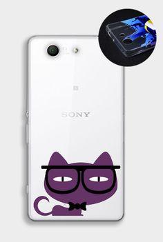 Kot w okularach:) #cat #case #fancy