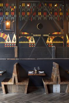 kinda looks uncomfortable but such a cute booth!   Duende Restaurant and Bar, Oakland #KBHomes