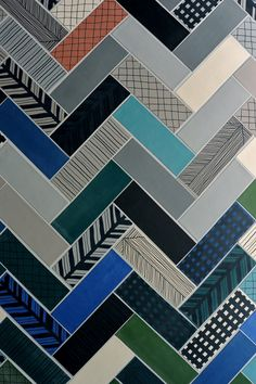 Modern Graphic Tile Collection from Ornamenta mix & match tilemix & match tile Floor Patterns, Tile Patterns, Textures Patterns, Floor Design, Tile Design, Vitromosaico Ideas, Do It Yourself Inspiration, Tiles Texture, Monochrom