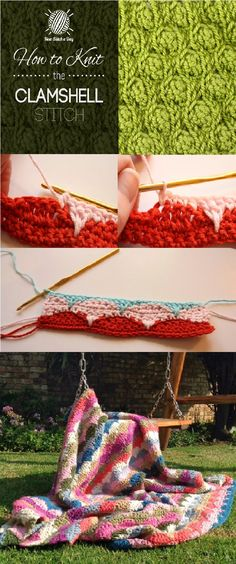 Fall for a traditional stitch that rapidly builds up to crochet oh-so-pretty items Pretty Patterns, Knit Patterns, Easy Crochet Stitches, Crocheting, Crochet Necklace, Knitting, Crafts, Tricot, Knitting Stitches