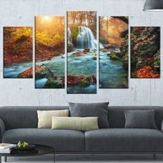 Shop for Fast Flowing Fall River in Forest' Landscape Photography Wall Art. Get free delivery at Overstock.com - Your Online Art Gallery Store! Get 5% in rewards with Club O! - 18972476