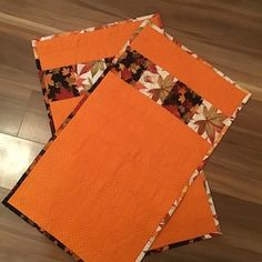 Handmade quilted fall / thanksgiving placemats set of 2 | Etsy