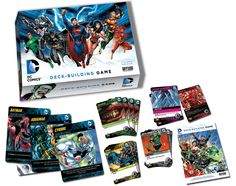 "DC Comics Deck-Building Game | Cryptozoic Entertainment - This past year we discovered a new style of card game.  ""Deck Building"" games.  They are fast set up, and the games play with a lot of variety.  You start with a small basic deck of cards and spend points to buy new cards to add to your deck and gain victory points.  Very enjoyable.  Cryptozoic also has two Deck Building Card games based on the Lord of The Rings that follow the same basic mechanics with a Tolkien setting and flavor."